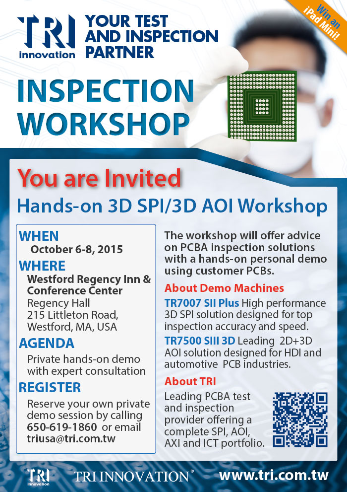 You're Invited to the 2015 TRI US Inspection Technology